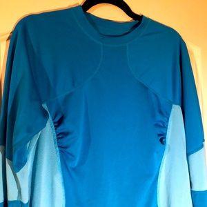 Lululemon blue long sleeve training top